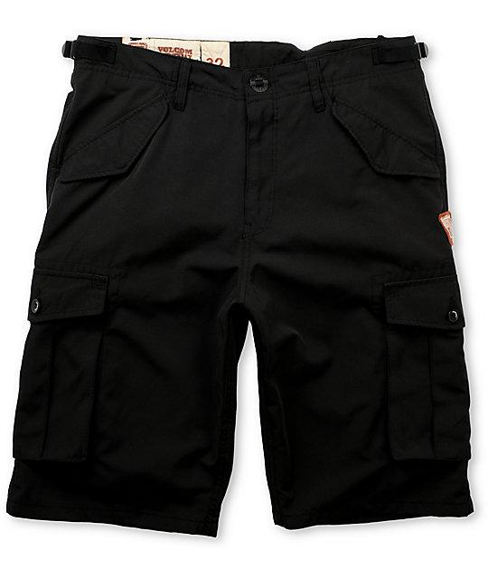 Volcom Empire Black Cargo Hybrid Shorts