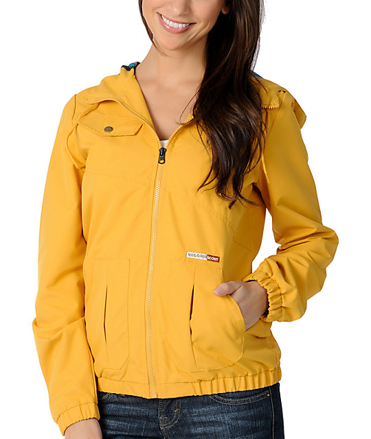 Volcom Enemy Lines Mustard Windbreaker Jacket