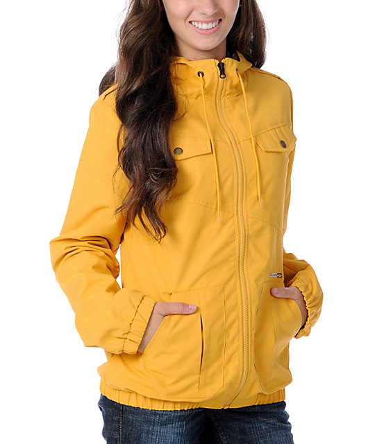Volcom Enemy Lines Yellow Windbreaker Jacket