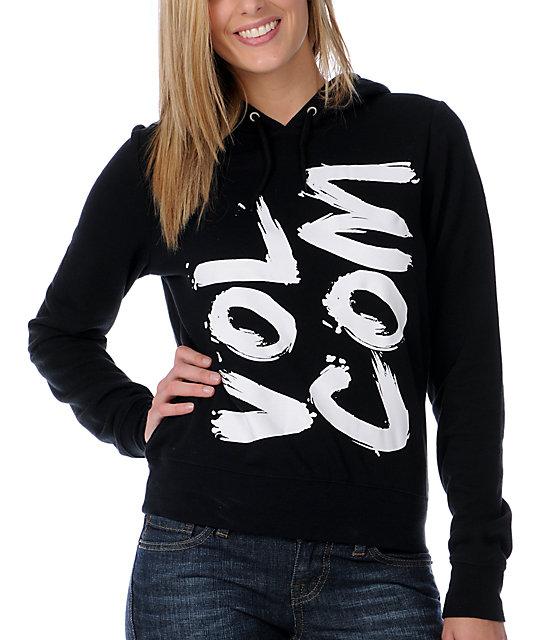Volcom Enough Brush Black Pullover Hoodie
