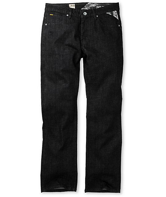 Volcom Enowen Black Rinse Denim Wash Jeans
