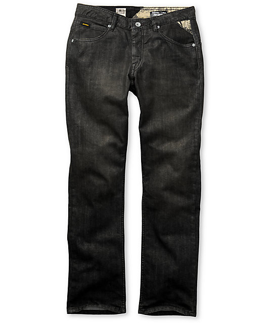 Volcom Enowen White On Black Wash Jeans