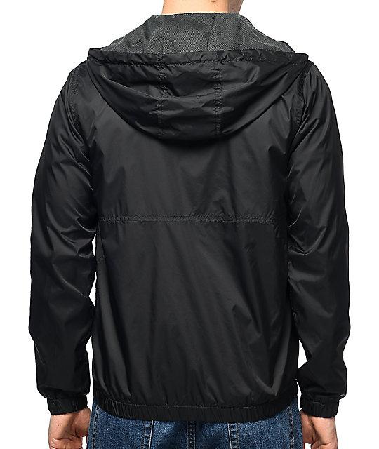 Volcom Ermont Black Windbreaker Jacket | Zumiez