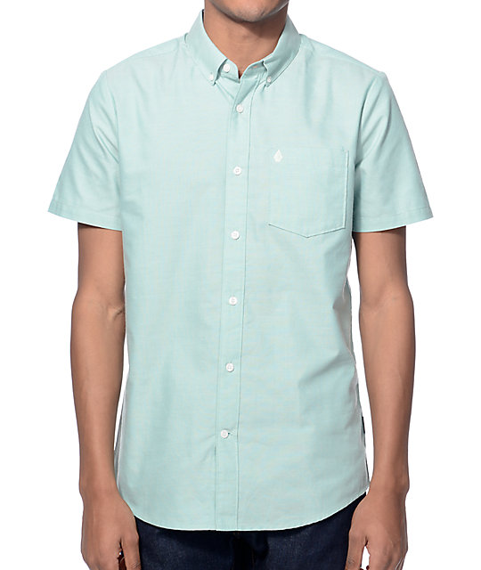 Volcom Everett Green Oxford Button Up Shirt