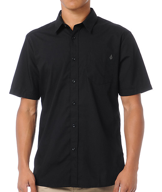 Volcom Ex Factor Black Button Up Shirt
