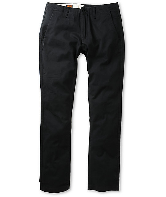 Volcom Faceted Black Skinny Chino Pants