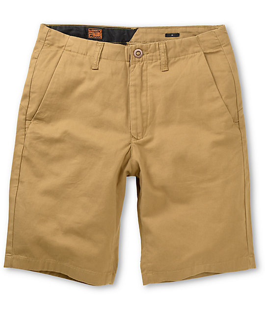 Volcom Faceted Khaki Chino Shorts