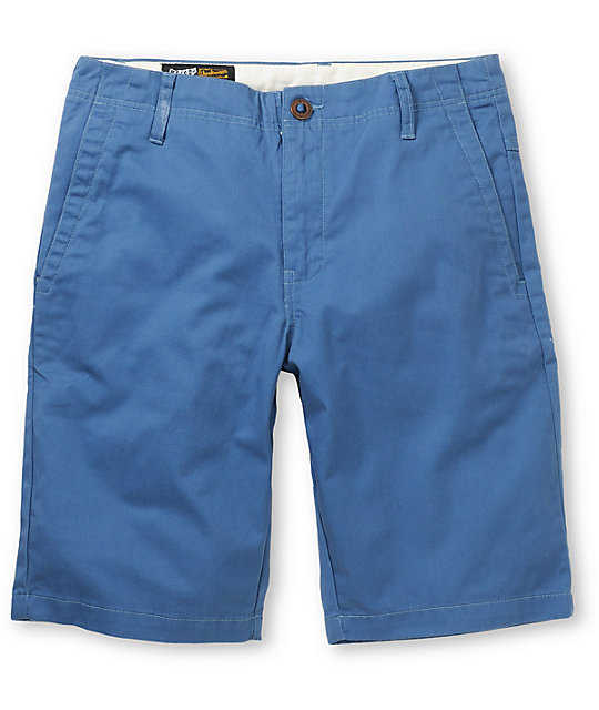 Volcom Fairmondo 20 Blue Chino Shorts
