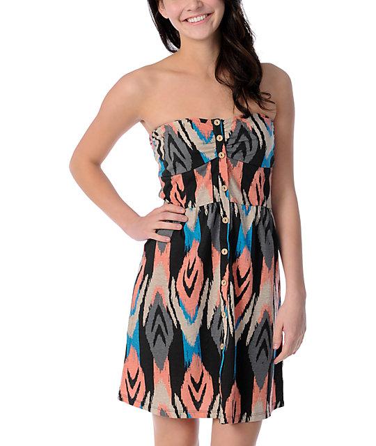 Volcom Farmers Daughter Santa Fe Print Dress