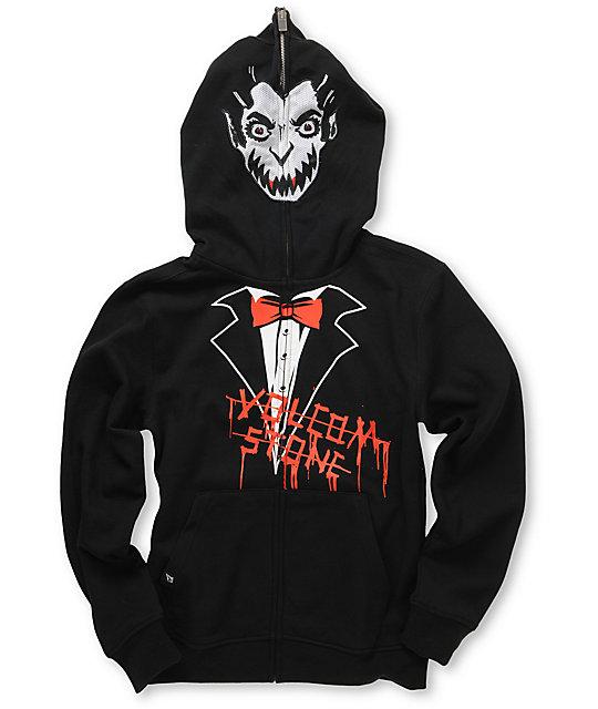 Volcom Fear Vampire Boys Full Zip Face Mask Hoodie