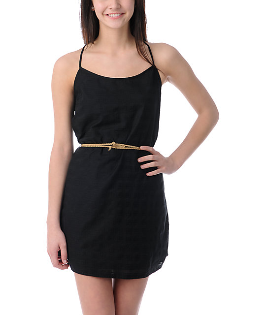 Volcom Festivus Woven Black Dress