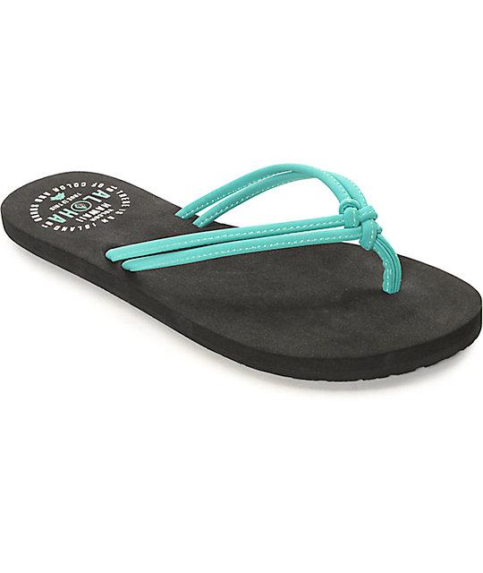 Volcom Forever & Ever Hawaii Mint & Black Sandals
