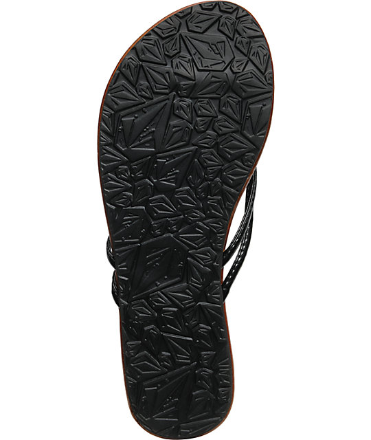 Volcom Forever Creedlers Black Sandals