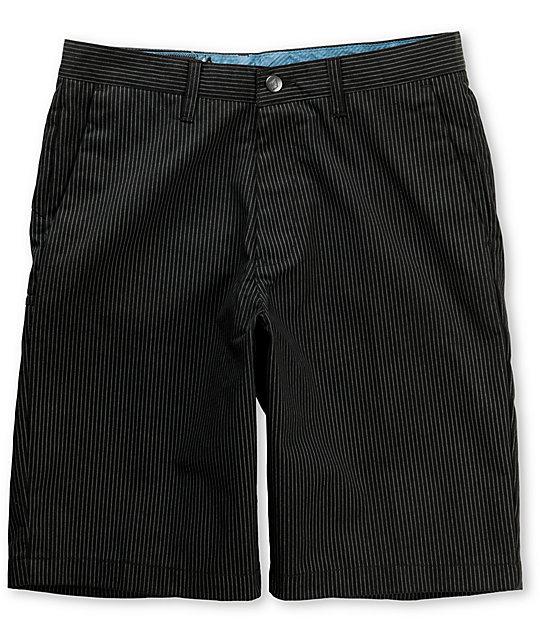 Volcom Frickin Black Pinstripe Shorts