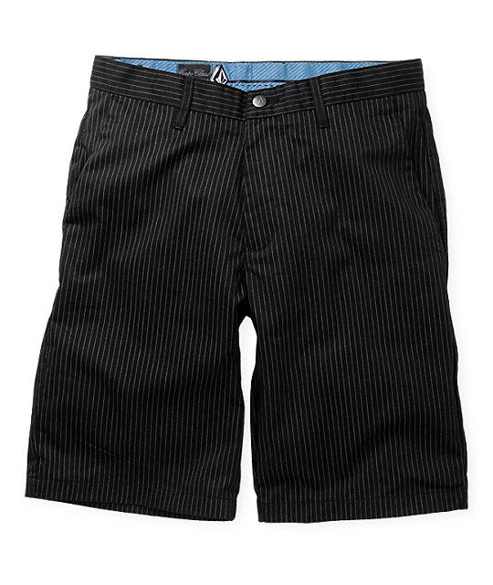 Volcom Frickin Chino Black Pin Stripe Shorts