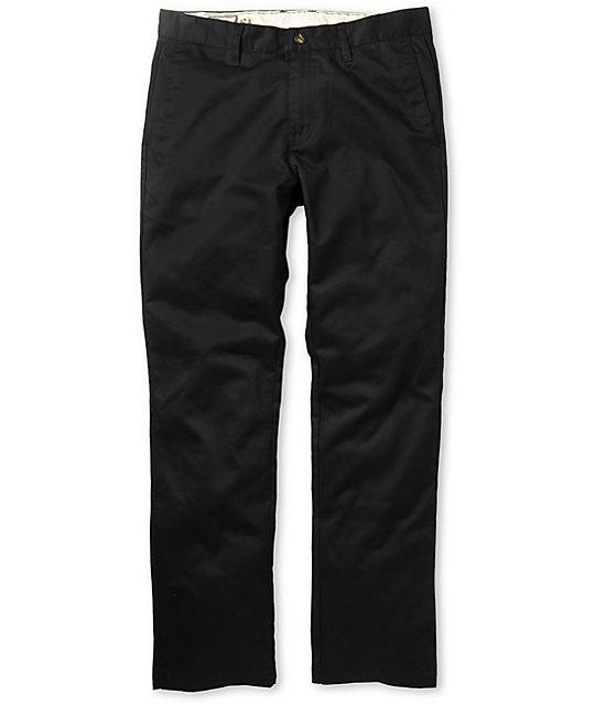 Volcom Frickin Modern Black Chino Pants