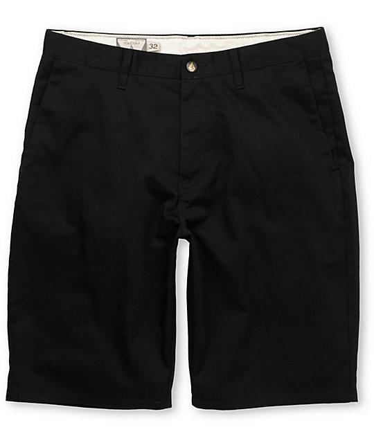 Volcom Frickin Modern Black Chino Shorts