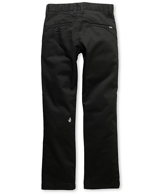 Volcom Frickin Modern Boys Black Chino Pants
