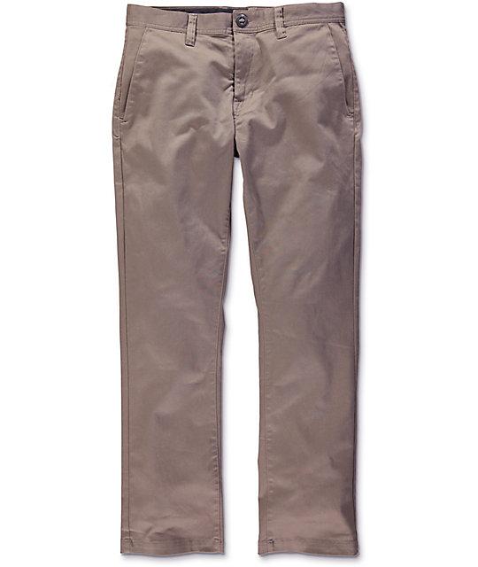 Volcom Frickin Modern Dark Khaki Stretch Chino Pants