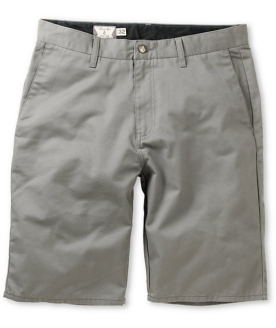 Volcom Frickin Modern Grey 22 Chino Shorts