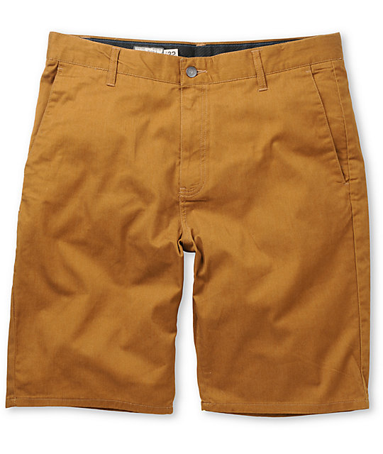 Volcom Frickin Modern Hazelnut Stretch Chino Shorts