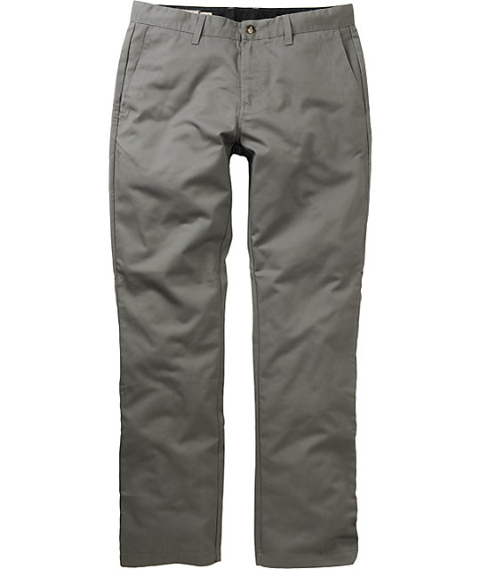 Volcom Frickin Modern Regular Fit Grey Chino Pants
