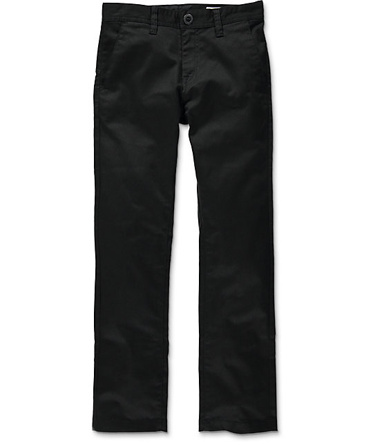 Volcom Frickin Modern Straight Stretch Black Pants