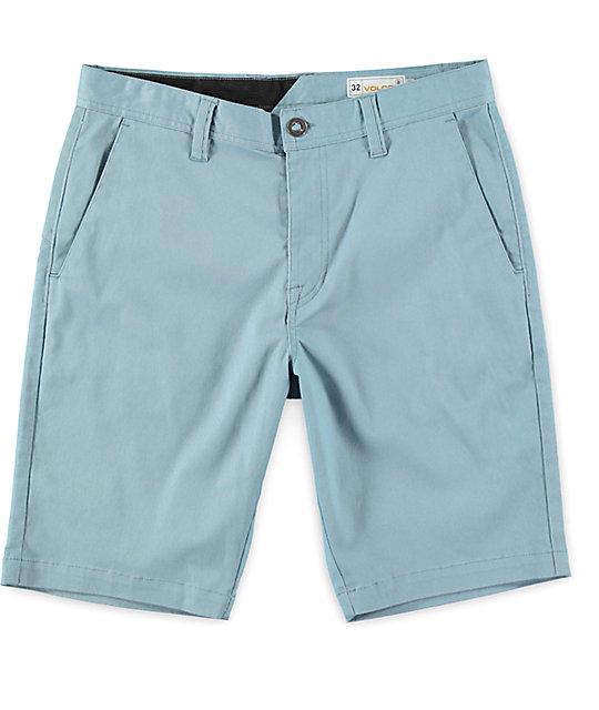 Volcom Frickin Modern Stretch Vintage Blue Shorts