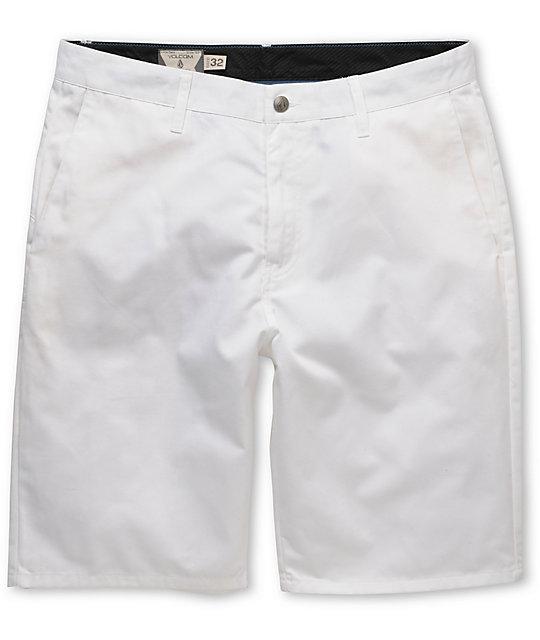 Volcom Frickin Modern White Chino Shorts