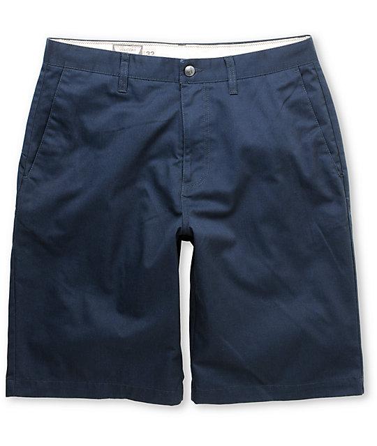 Volcom Frickin Navy Blue Chino Shorts at Zumiez : PDP