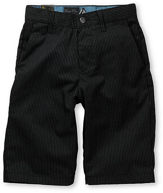 Volcom Frickin Pinstripe Black Boys Shorts