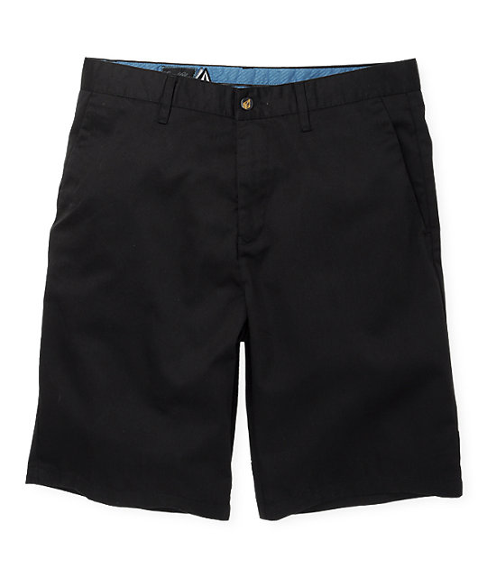 Volcom Frickin Solid Chino Black Shorts