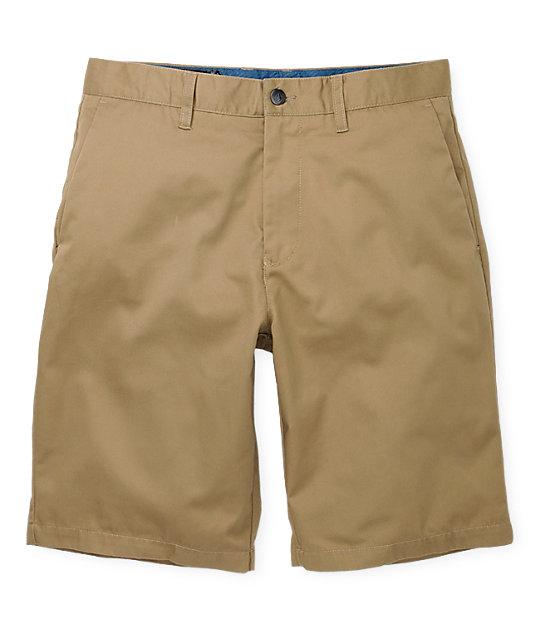 Volcom Frickin Solid Chino Khaki Shorts
