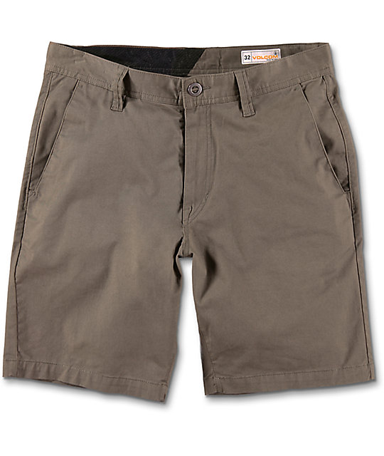 Volcom Frickin Stretch Mushroom Chino Shorts