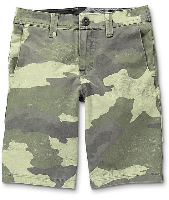 Volcom Frickin Surf N' Turf Camo Boys Hybrid Shorts