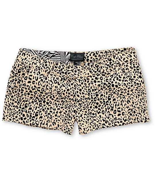 Volcom Frochickie Animal Cheetah Print Shorts