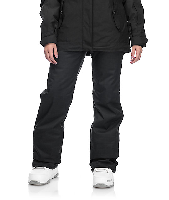 Volcom Frochickie Black 8k Insulated Snowboard Pants