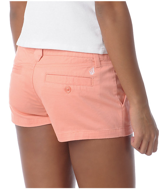 Volcom Frochickie Coral Chino Shorts