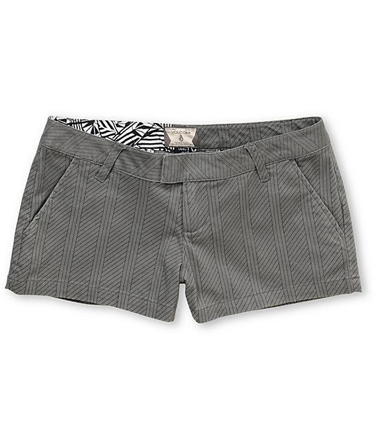 Volcom Frochickie Grey Pinstripe Shorts