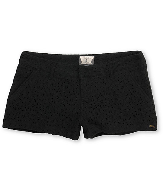 Volcom Frochickie Laced Black 2.5 Shorts