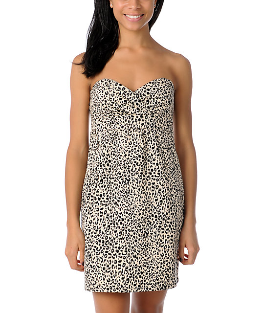 Volcom Frochickie Leopard Print Dress