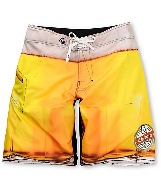 Volcom Frothing Mod Gold Board Shorts