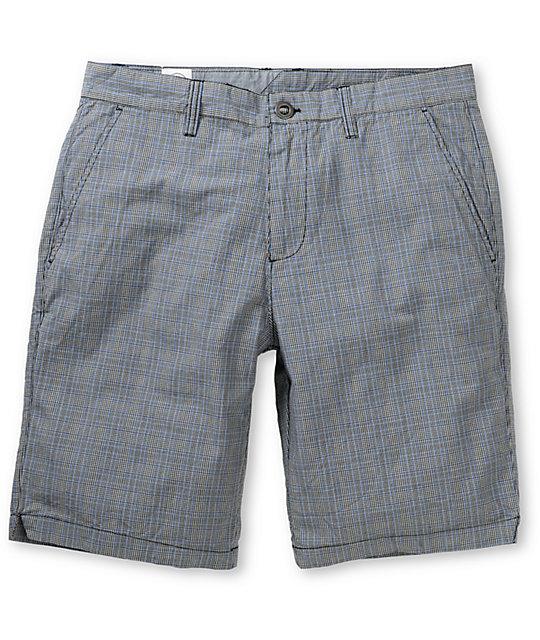 Volcom Fruckin Loco Grey Plaid Shorts