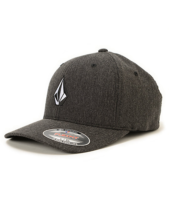 Volcom Full Stone Charcoal Grey Flexfit Hat