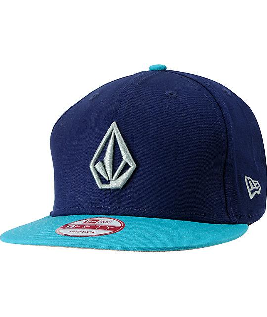 Volcom Full Stone Navy & Teal Snapback Hat