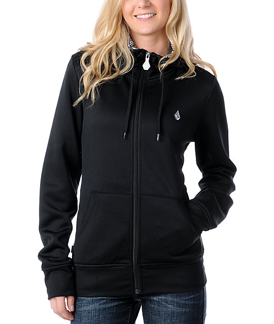 Volcom Garden Basic Black Tech Fleece Jacket