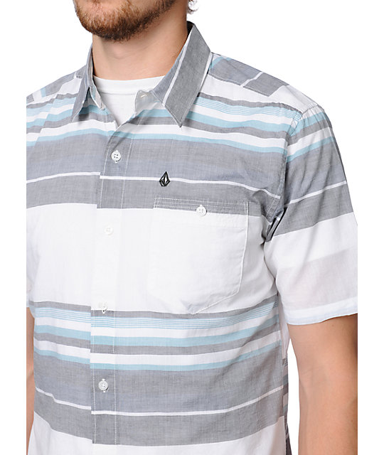 Volcom Garrett V.Co-Logical Stripe Button Up Shirt