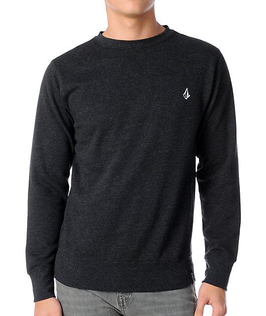 Volcom Getta Heather Charcoal Crew Neck Sweatshirt
