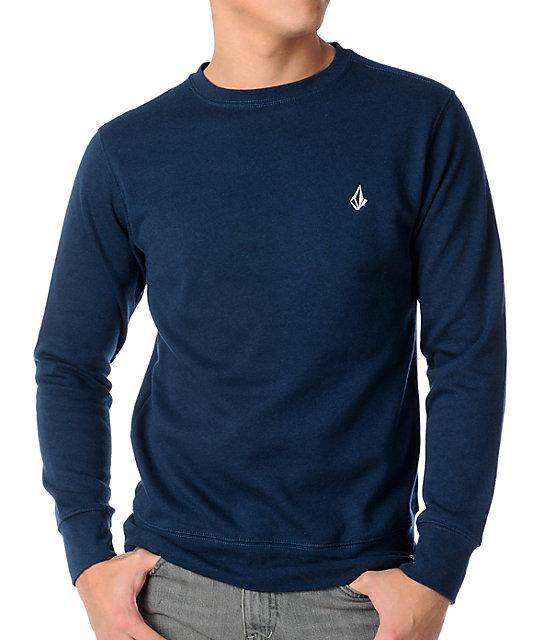 Volcom Getta Navy Crew Neck Sweatshirt