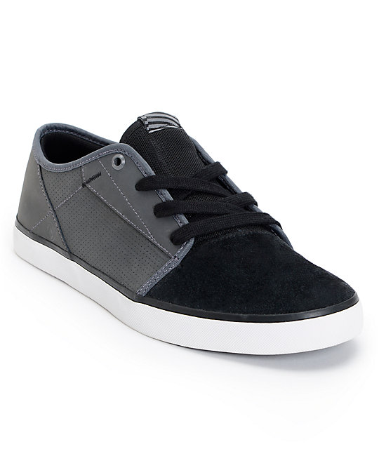 Volcom Grimm Black & Charcoal Suede Shoes